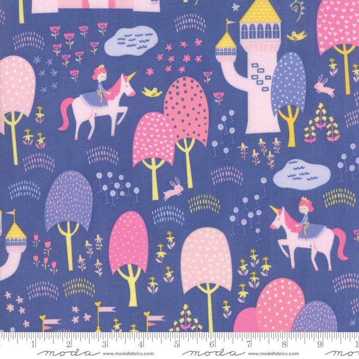 "Once Upon A Time by Stacy Iest Hsu | END OF BOLT 2 yds + 34"" - Periwinkle Palace Grounds Fabric"