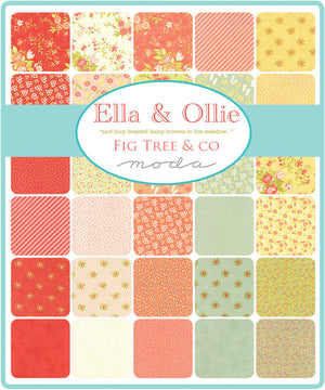 Ella & Ollie by Fig Tree & Co | White Turkey Tracks Fabric