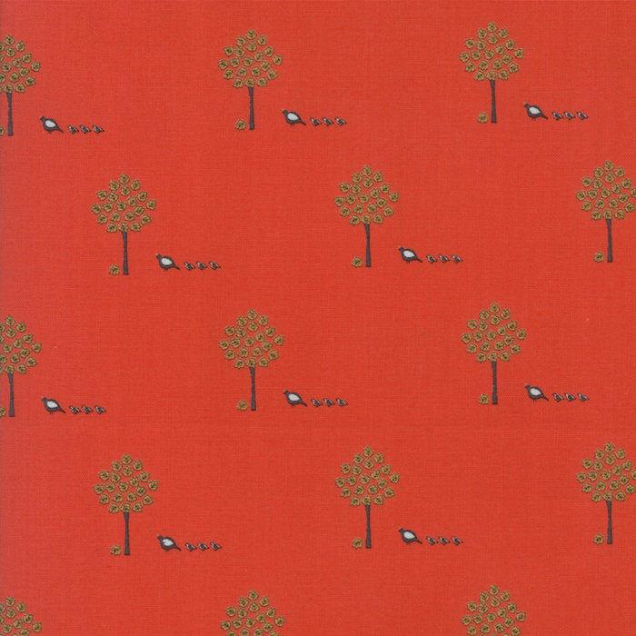 101 Maple Street by Bunny Hill Designs | Red Maple Trees Fabric