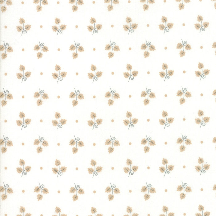 101 Maple Street by Bunny Hill Designs | Cream Maple Leaves Fabric