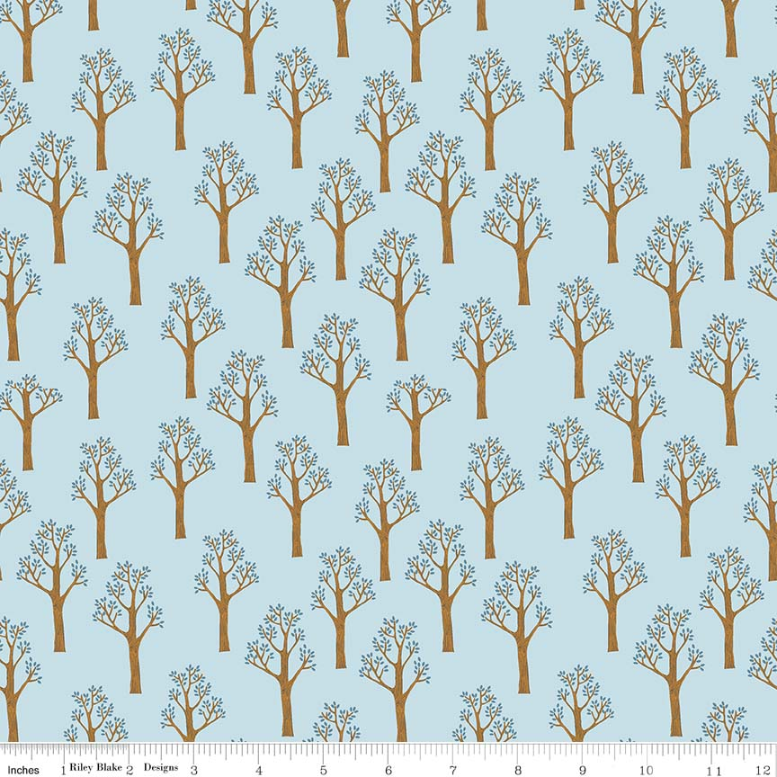 Lancelot by Citrus & Mint | Blue Trees Fabric