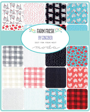 Farm Fresh by Gingiber | Red Dots Fabric