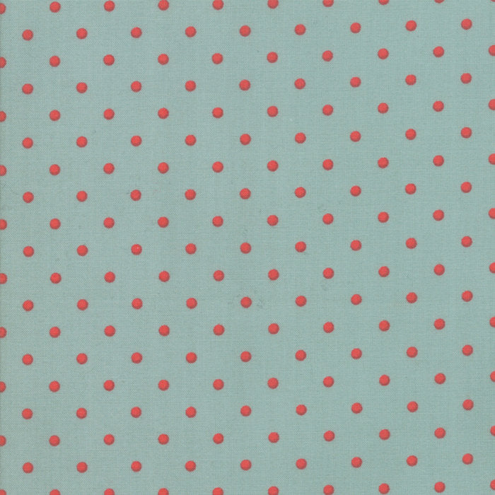101 Maple Street by Bunny Hill Designs | Aqua Dots Fabric