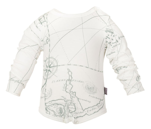 "Onesie  ""Nautical Map"""