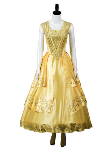 2017 Beauty and the Beast Movie La bella y la bestia Bella Vestido Cosplay Disfraz