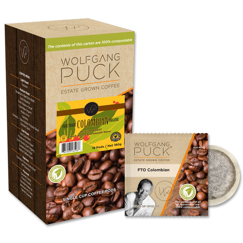 Wolfgang Puck Colombian Fair Trade Organic Coffee Pods