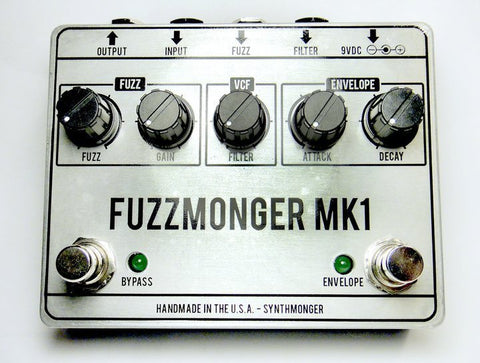 Synthmonger Fuzzmonger MK1 Voltage Controlled Cross-Over Fuzz Pedal