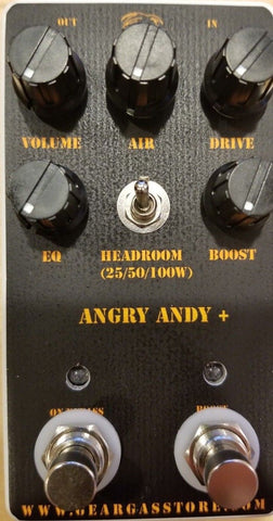 Geargas Custom Shop Angry Andy Plus Distortion Pedal