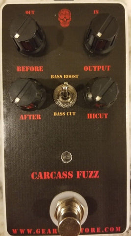 Geargas Custom Shop Carcass Fuzz Pedal
