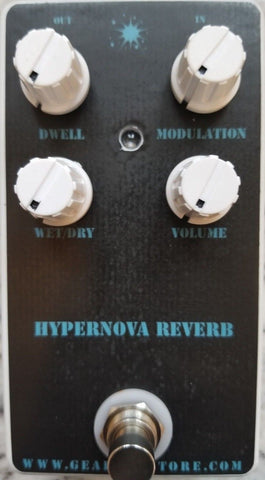 Geargas Custom Shop Hypernova Reverb Pedal - Cavern Style Reverb with Modulation