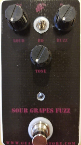 Geargas Custom Shop Sour Grapes Fuzz Pedal