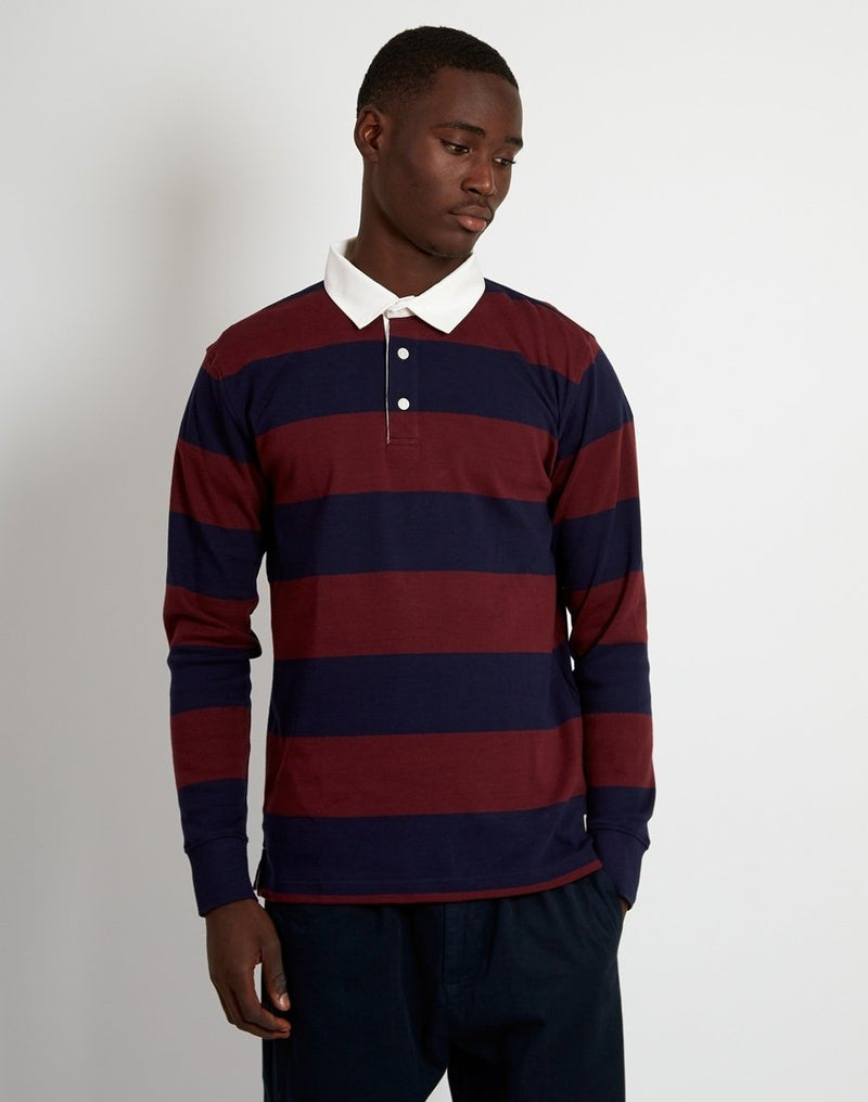 Armor Lux - ML Polo Shirt Navy & Burgundy