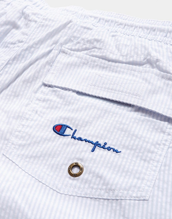 Champion - Seersucker Swim Shorts Blue