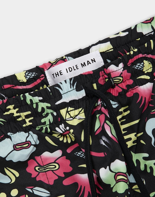 The Idle Man - Print Swim Black