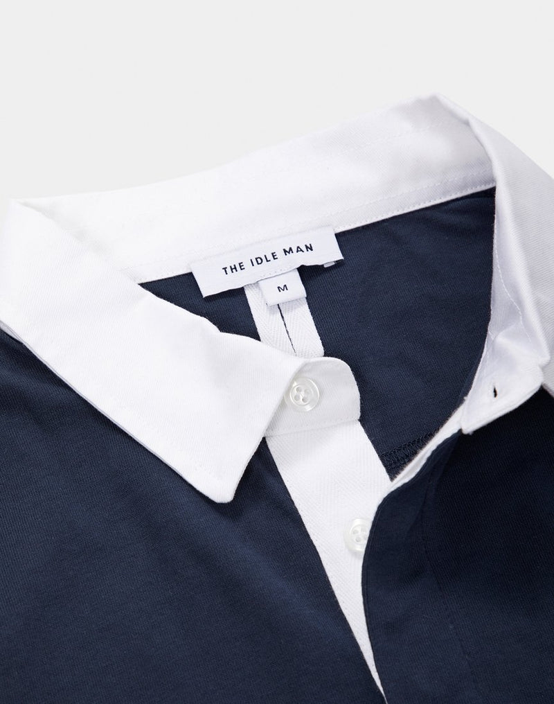 The Idle Man - Rugby Shirt Navy