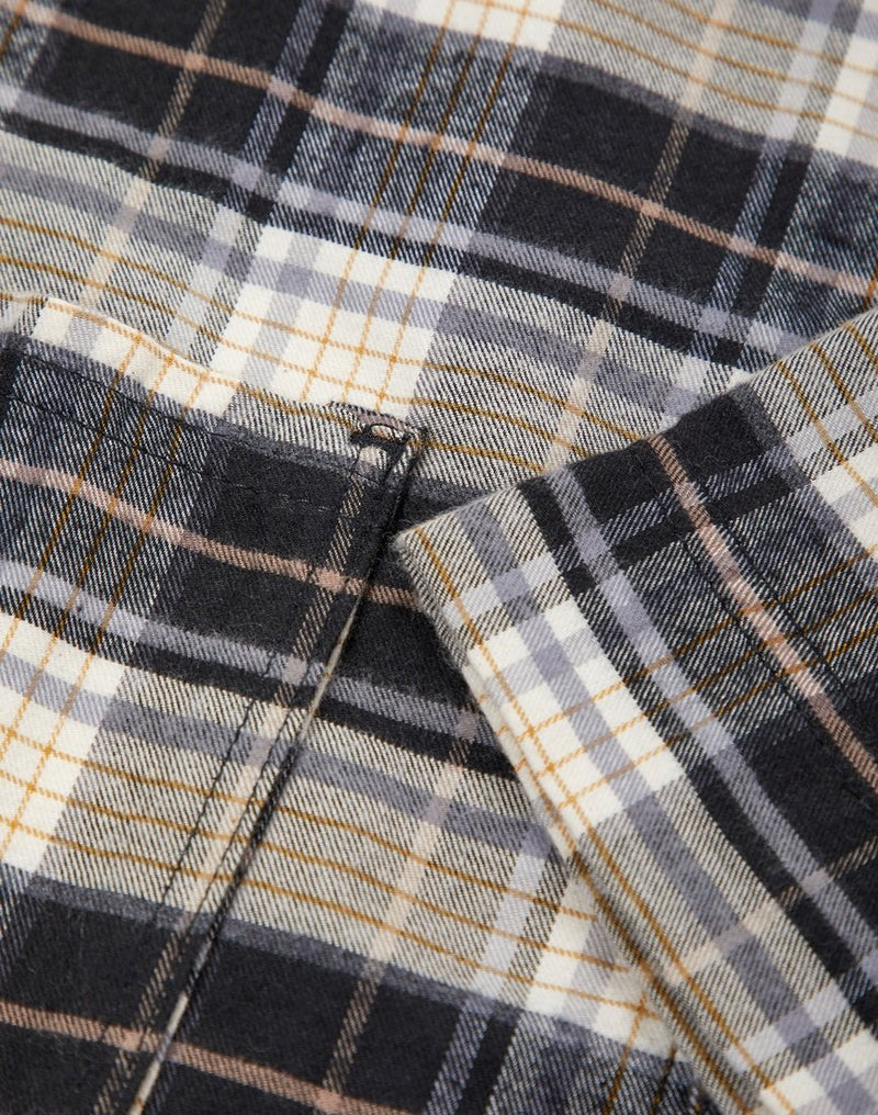 The Idle Man - Workwear Check Shirt Black