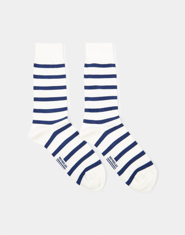 Armor Lux - Chaussettes Homme Socks White & Navy