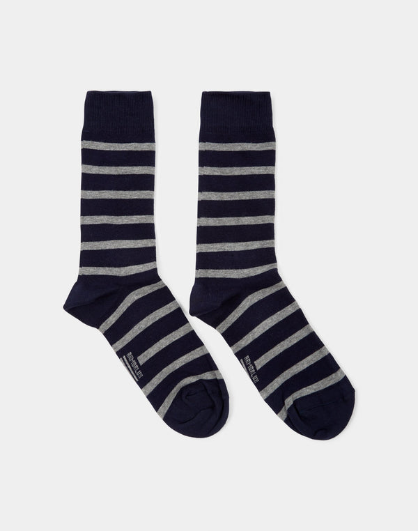 Armor Lux - Chaussettes Homme Socks Black & Grey