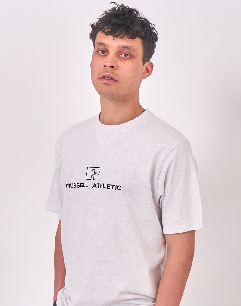 Russell Athletic - Beacons Crew Neck Tee Silver Marl