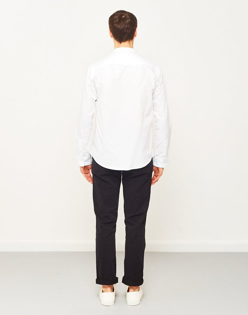 The Idle Man - Mandarin Collar Shirt White