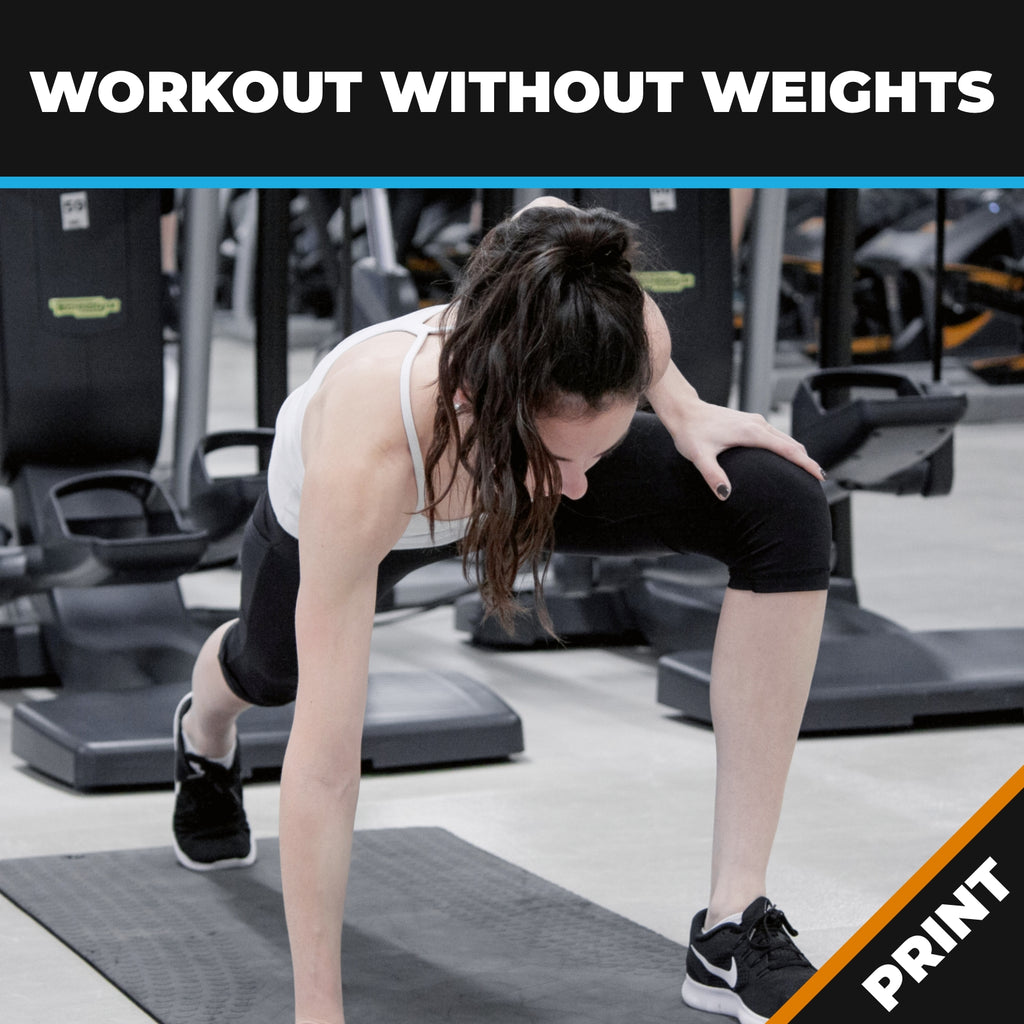 Workout Without Weights – Be Your Own Gym PRINT