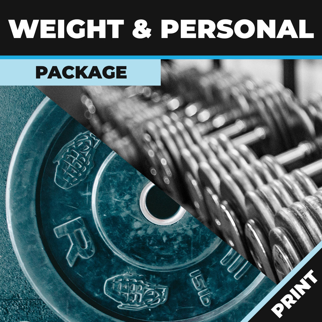 Weight and Personal Trainers Online Package Print