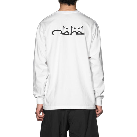 NEIGHBORHOOD NBHD . Abjad / C-Tee . LS White, T-Shirts