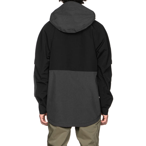 nonnative Alpinist Hooded Jacket N/P Taffeta With GORE-TEX Charcoal/Black, Jackets