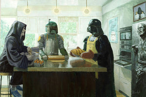 """Imperial Baking Party"" Gallery Wrapped Canvas by Artist Bucket - 4 Sizes to Choose From"