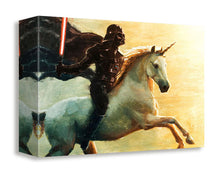 """Unicorn Charge"" Gallery Wrapped Canvas by Artist bucket - 4 Sizes to Choose From"