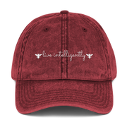Live intelligently. Dad hat. (Various color options)
