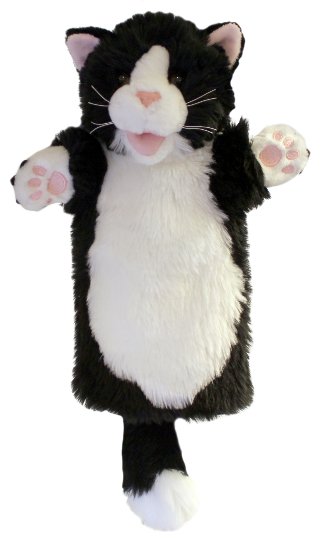P353-PC006003-marionnette-Chat-noir-et-blanc-The-Puppet-Company-Long-Sleeved-Glove-Puppets