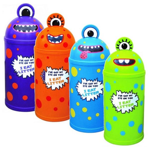 Set of 4 Monster Litter Bins - techni-pros