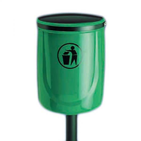 Osprey Open Top Post Mountable Litter Bin - 40 Litre - techni-pros