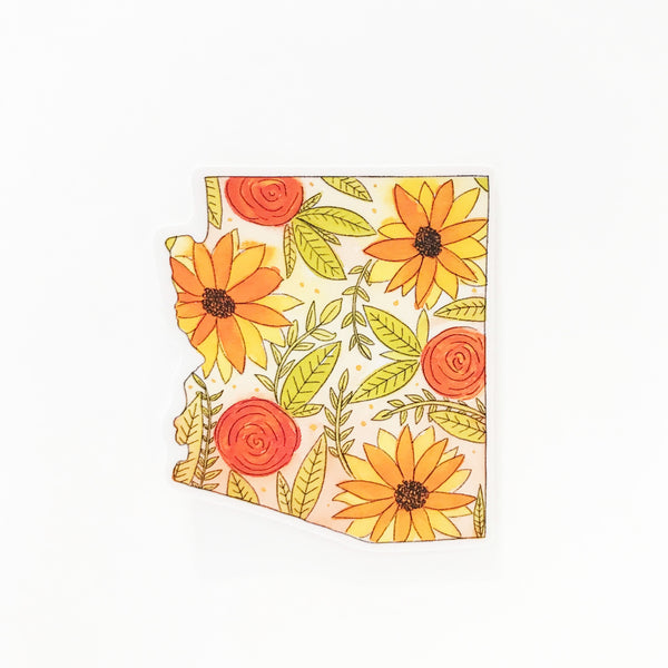 Floral Arizona Sticker