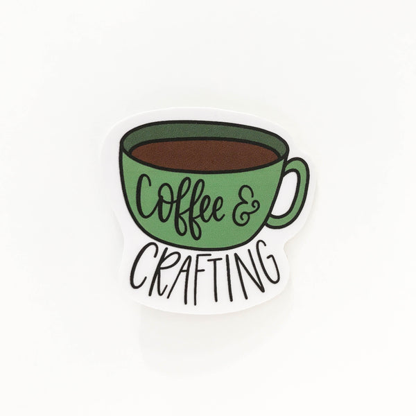 Coffee and Crafting Sticker