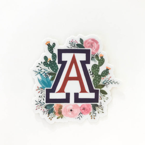 University of Arizona Floral Sticker