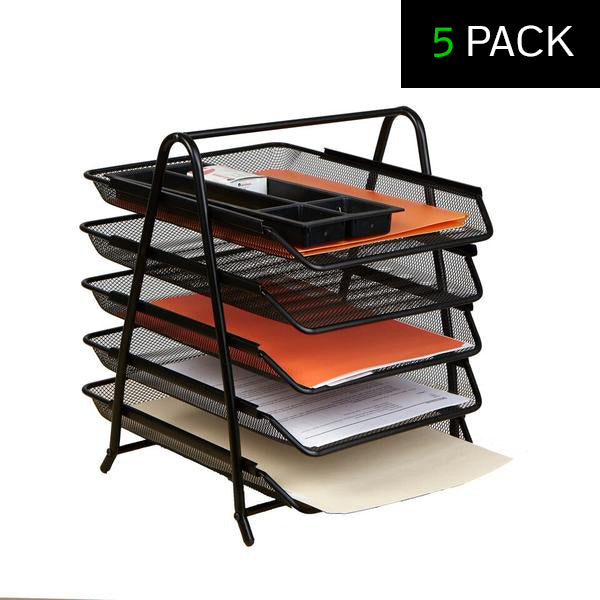 5 Tray Desk Organizer - 5 Pack