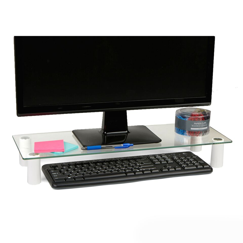 Glass Computer Monitor Stand Riser