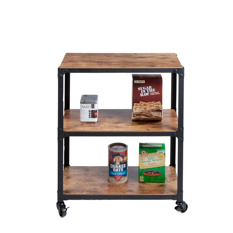 3-Tier Wood Metal All Purpose Utility/ Bar Cart