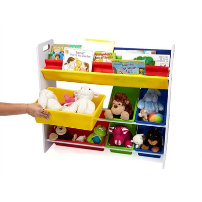 Fabric Sling Book Shelf and Toy Organizer