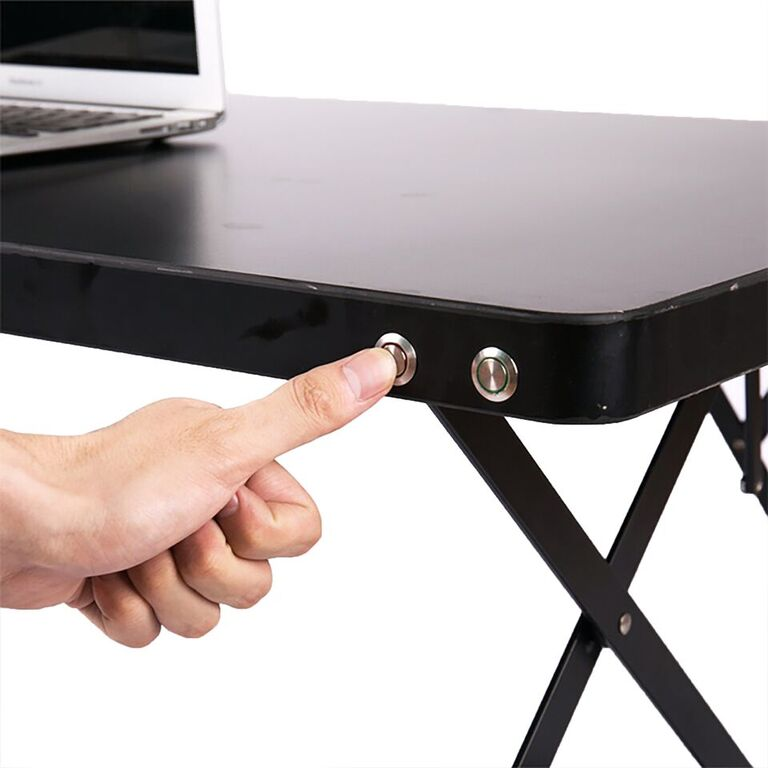 Electric Powered Adjustable Standing Desk with Color Coded Buttons