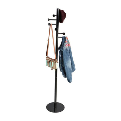 Free Standing 7 Hook Metal Coat and Hat Rack