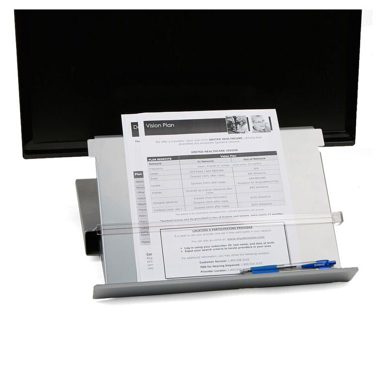 Metal Monitor Stand Riser with Resting Document Holder Easel