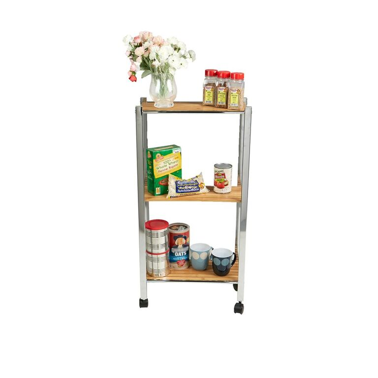 3 Tier Bamboo All Purpose Utility Cart
