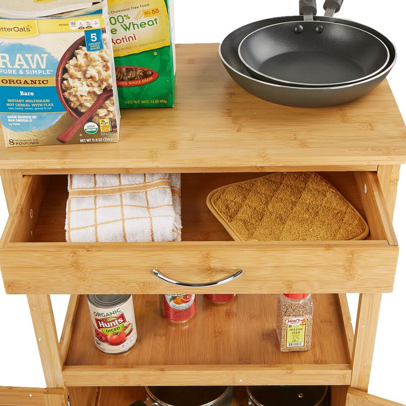 4 Tier Kitchen Island Storage Rack Organizer