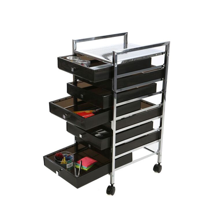 All Purpose Quality Storage Drawer Rolling Utility Cart, 8 Drawer Organizer