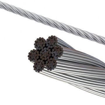 6 mm Aircraft Grade Galvanised Cable, per metre