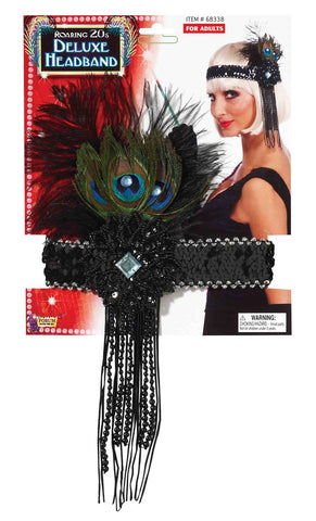 Flapper Headband- Peacock