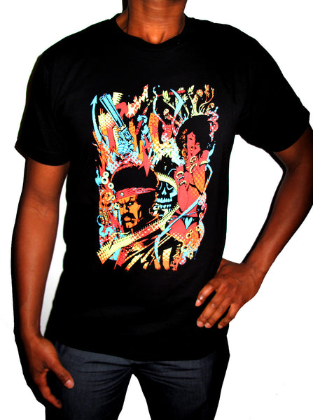 "BLACK DYNAMITE! Jim Mahfood ""Psychedelic Freakout"" Tee"
